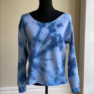 Off-the-shoulder Tie Dye Sweatshirt (size M)
